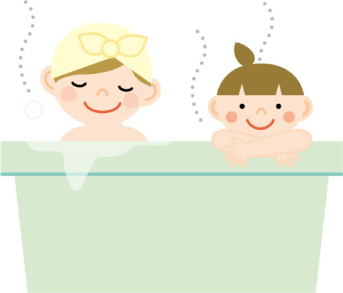 家族でお風呂